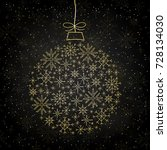 black background with christmas ... | Shutterstock .eps vector #728134030