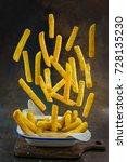 homemade crispy potato fries... | Shutterstock . vector #728135230