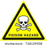 poison hazard sign poison
