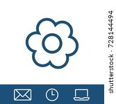 flower icon vector fat design... | Shutterstock .eps vector #728144494