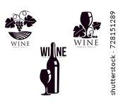 wine corkscrew  glass of wine...   Shutterstock .eps vector #728151289