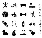 activity icons set. set of 16... | Shutterstock .eps vector #728152276