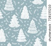 seamless pattern with christmas ... | Shutterstock .eps vector #728155210