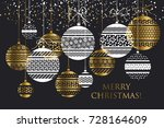merry christmas and happy new... | Shutterstock .eps vector #728164609