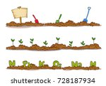 illustration of garden soil... | Shutterstock .eps vector #728187934