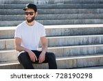 hipster handsome male model... | Shutterstock . vector #728190298