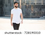 hipster handsome male model... | Shutterstock . vector #728190310