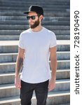 hipster handsome male model... | Shutterstock . vector #728190490