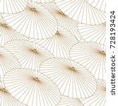 japanese pattern vector. gold... | Shutterstock .eps vector #728193424