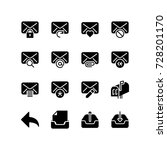Message And Email Icon Set
