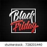 black friday lettering text... | Shutterstock .eps vector #728201440