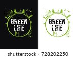 green life design  vector... | Shutterstock .eps vector #728202250
