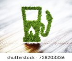 biofuel gas station on wooden... | Shutterstock . vector #728203336
