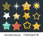 shiny star icons in different... | Shutterstock .eps vector #728206378