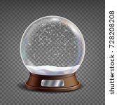 3d classic snow globe vector... | Shutterstock .eps vector #728208208