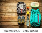 traveling   packing  preparing  ... | Shutterstock . vector #728213683