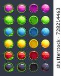 cartoon colorful vector round...