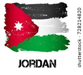 flag of jordan from brush... | Shutterstock .eps vector #728214820
