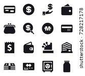 16 vector icon set   card ...   Shutterstock .eps vector #728217178