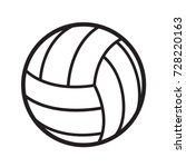 volleyball ball sports activity ... | Shutterstock .eps vector #728220163