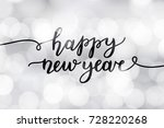 happy new year  lettering ... | Shutterstock .eps vector #728220268
