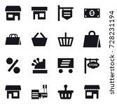 16 vector icon set   shop  shop ... | Shutterstock .eps vector #728231194