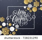 merry christmas handwriting... | Shutterstock .eps vector #728231290