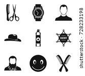 haircut icons set. simple set... | Shutterstock .eps vector #728233198