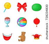 unlimited fun icons set.... | Shutterstock .eps vector #728234830