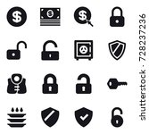 16 vector icon set   dollar ... | Shutterstock .eps vector #728237236