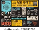 food menu for restaurant and... | Shutterstock .eps vector #728238280