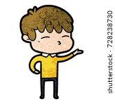 cartoon curious boy   Shutterstock .eps vector #728238730