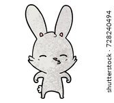 curious bunny cartoon   Shutterstock .eps vector #728240494