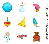 varied childhood icons set