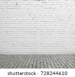 old white brick wall and...   Shutterstock . vector #728244610