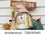 Fall Scarecrow Closeup  Fall...