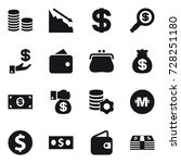 16 vector icon set   coin stack ... | Shutterstock .eps vector #728251180