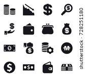 16 vector icon set   coin stack ... | Shutterstock .eps vector #728251180
