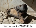 """Small photo of PIDHIRTI UKRAINE 09 04 17: Cannon in Pidhirtsi Castle is one of third castle in the """"Golden Horseshoe"""", a ring of three castles: Pidhirtsi and two above-mentioned Zolochiv and Olesko Castles."""