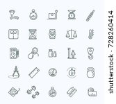 measuring related web icon set  ... | Shutterstock .eps vector #728260414