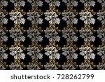 pattern on black  white and... | Shutterstock . vector #728262799