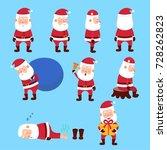 set of santa clauses.cartoon... | Shutterstock .eps vector #728262823