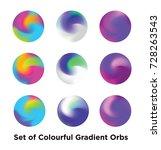 liquid color covers set. fluid... | Shutterstock .eps vector #728263543