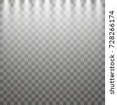 vector spotlights. scene. light ... | Shutterstock .eps vector #728266174
