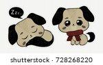 Stock vector hand drawn puppy cute dog pet animal vector charactes 728268220