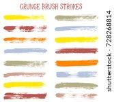 modern watercolor daubs set ... | Shutterstock .eps vector #728268814