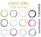 round paint brush stroke vector ... | Shutterstock .eps vector #728268838