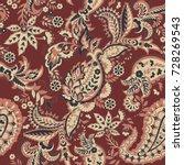 paisley vector seamless pattern....   Shutterstock .eps vector #728269543