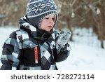 Cute Little Boy In Winter...