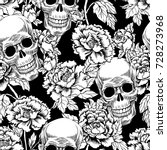 seamless pattern with image a... | Shutterstock .eps vector #728273968
